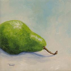 Art: Lazy Green Pear by Artist Torrie Smiley