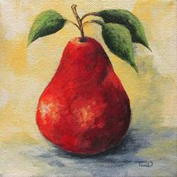 Art: The Single Red Pear by Artist Torrie Smiley