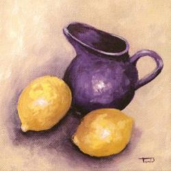 Art: Lemons and Creamer II by Artist Torrie Smiley