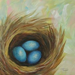 Art: Robin's Blue Eggs III by Artist Torrie Smiley
