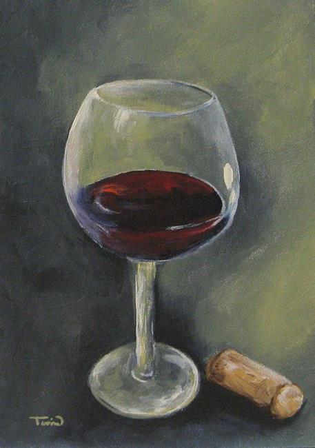 Art: Glass of Sweet Red by Artist Torrie Smiley