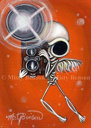 Art: Camera Skelly by Artist Misty Monster (Benson)