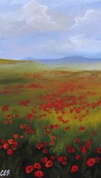 Art: Poppy Fields by Artist Christine E. S. Code ~CES~