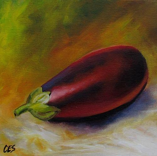 Art: Eggplant by Artist Christine E. S. Code ~CES~