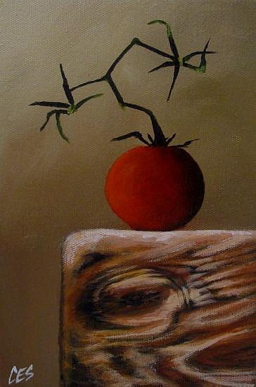 Art: Garden Tomato by Artist Christine E. S. Code ~CES~