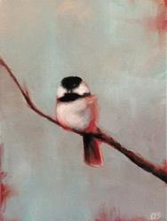 Art: Winterberry Chickadee by Artist Christine E. S. Code ~CES~
