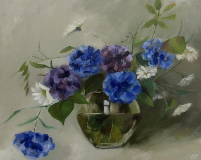 Art: Hydrangea Bouquet by Artist Christine E. S. Code ~CES~