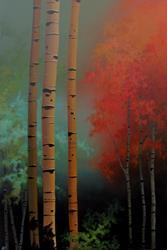 Art: Birch Confetti by Artist Christine E. S. Code ~CES~