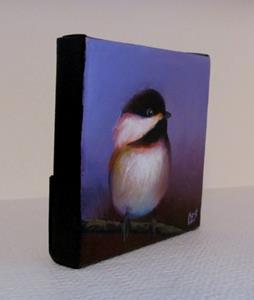 Detail Image for art Purple Chickadee Love