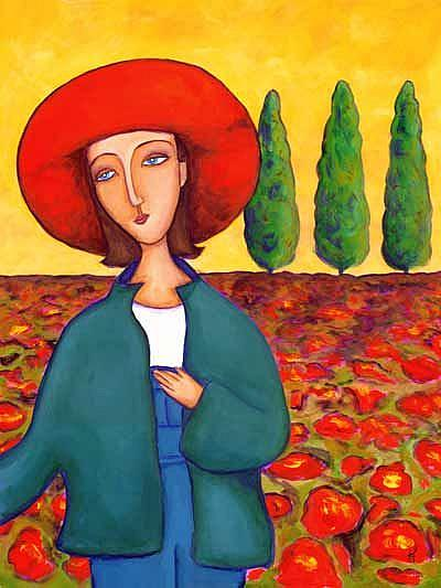 Art: Garden of Poppies by Artist April