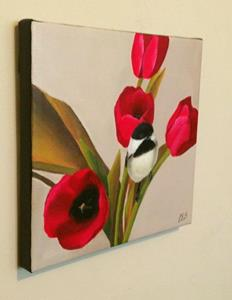 Detail Image for art Chickadee and Poppies