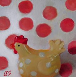 Art: The Traveling Chicken's Spots by Artist Christine E. S. Code ~CES~