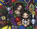 Art: Dia de los Muertos by Artist Jasmine Ann Becket-Griffith