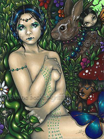 Art: Queen Mab by Artist Jasmine Ann Becket-Griffith