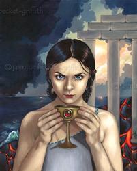 Art: The Fall of Atlantis by Artist Jasmine Ann Becket-Griffith