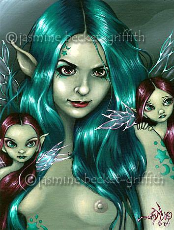 Art: Little Faery Friends by Artist Jasmine Ann Becket-Griffith