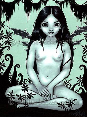 Art: Nude Fairy Drake by Artist Jasmine Ann Becket-Griffith