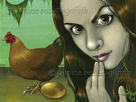 Art: The Hen and the Golden Eggs by Artist Jasmine Ann Becket-Griffith
