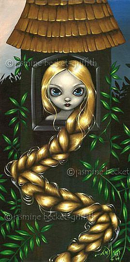 Art: Rapunzel in the Tower by Artist Jasmine Ann Becket-Griffith
