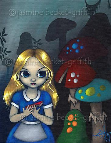 Art: Alice and the Mushrooms by Artist Jasmine Ann Becket-Griffith
