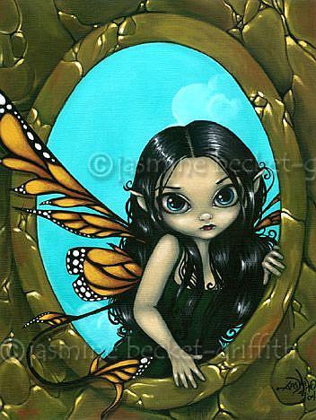 Art: Fairy in My Window by Artist Jasmine Ann Becket-Griffith