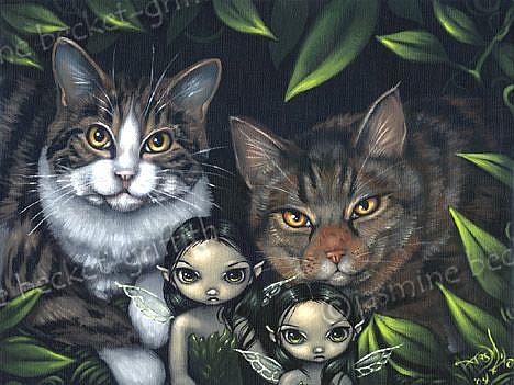 Art: Pixie Cats by Artist Jasmine Ann Becket-Griffith