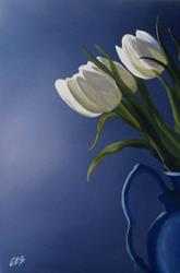 Art: White Tulips by Artist Christine E. S. Code ~CES~