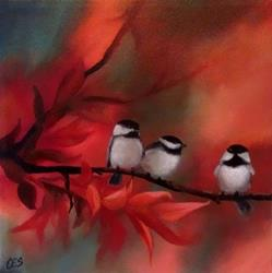 Art: Autumn Line Up by Artist Christine E. S. Code ~CES~