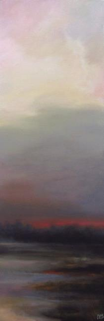 Art: This Morning's Foggy Reflections by Artist Christine E. S. Code ~CES~