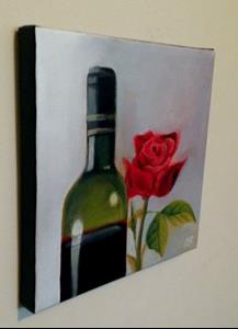 Detail Image for art Red Wine and Rose