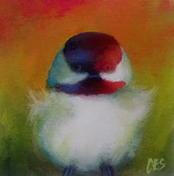 Art: Technicolor Chickadee by Artist Christine E. S. Code ~CES~