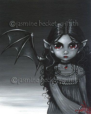Art: A Grey Faerie by Artist Jasmine Ann Becket-Griffith