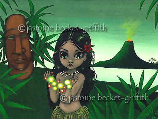 Art: Little Pele by Artist Jasmine Ann Becket-Griffith