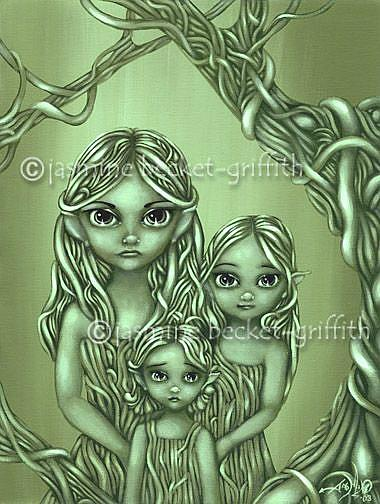 Art: Protectors of the Vines by Artist Jasmine Ann Becket-Griffith