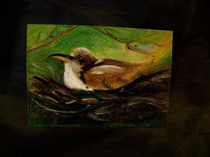 Detail Image for art Coo Coo's Nest, Bird ACEO