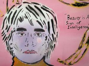 Detail Image for art Andy Warhol, Bananas Pop Graffiti Painting