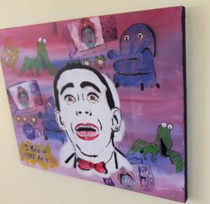 Detail Image for art Pee Wee Herman and Friends Original Pop Graffiti Painting