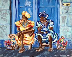 Art: Cuban Chat by Artist Andrea Golino