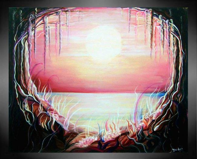 Art: Magenta Mist by Artist Doe-Lyn
