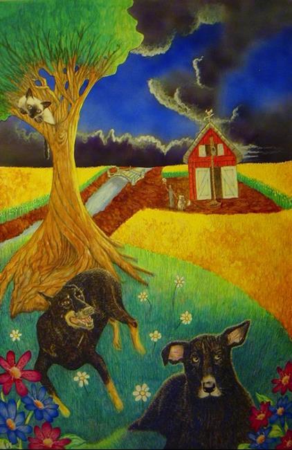 Art: Sunrise for Brandywyne by Artist Robert Thomas Robie