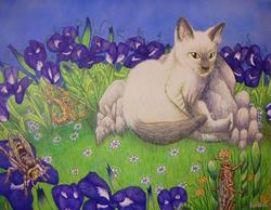 Art: Vincent's Summertime Nap by Artist Rob Robie