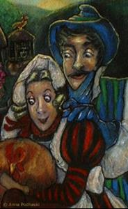 Detail Image for art A Cottager and his wife had a hen that laid a golden egg every day.