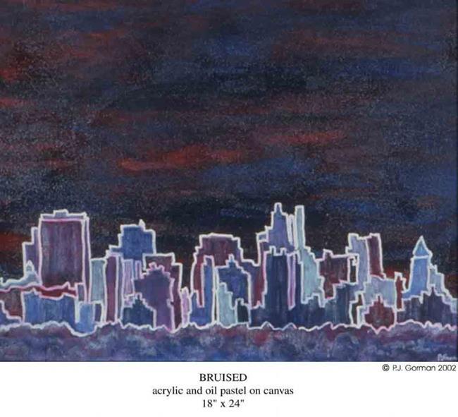 Art: Bruised (sold) by Artist PJ Gorman