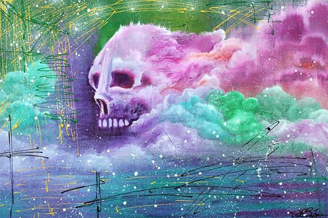 Art: Skull Cloud by Artist Laura Barbosa