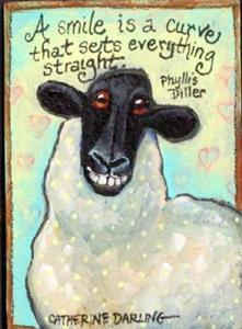 Detail Image for art Sheep Smiles