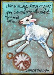 Art: Time Sheep by Artist Catherine Darling Hostetter