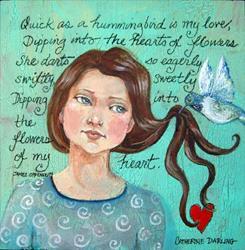 Art: Humming Bird Love by Artist Catherine Darling Hostetter
