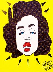 Art: Marilyn Monroe Louis Vuitton Cubist Pop Art by Artist Alex Vera Pop Art