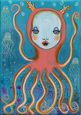 Art: I Am Not A Monster-Sold by Artist Sherry Key