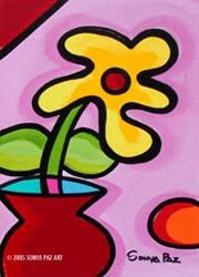 Art: Mobilia Red Vase by Artist Sonya Paz
